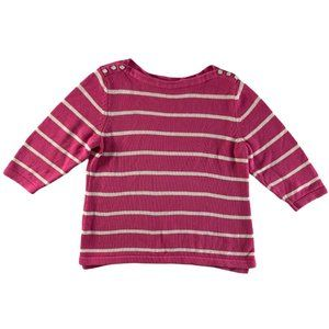 Christopher & Banks Striped Pink Knit Sweater